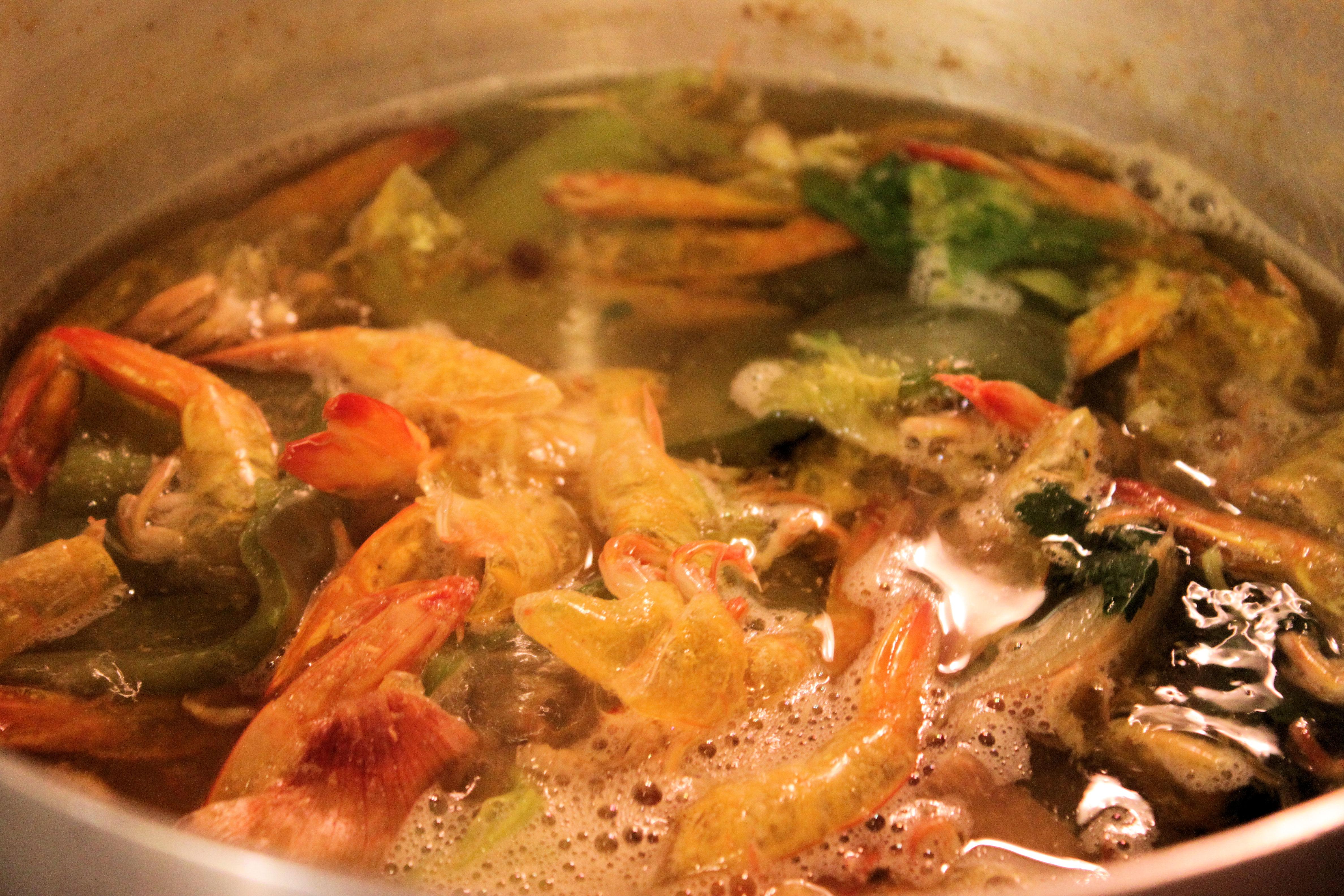 ... shrimp stock, use Knorr's Shrimp Bouillon Cubes – it's great