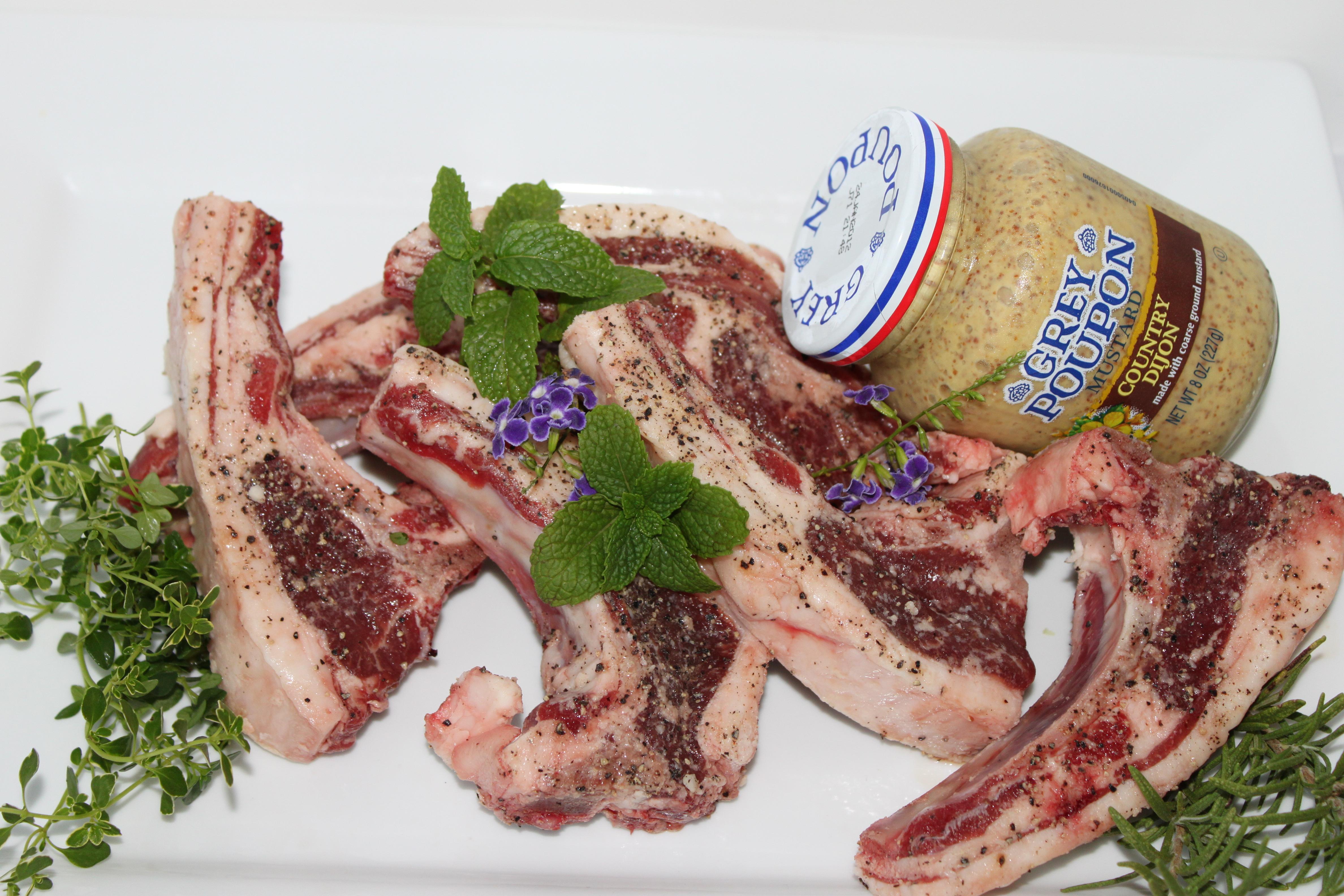 Orange Seared Lamb Chops: